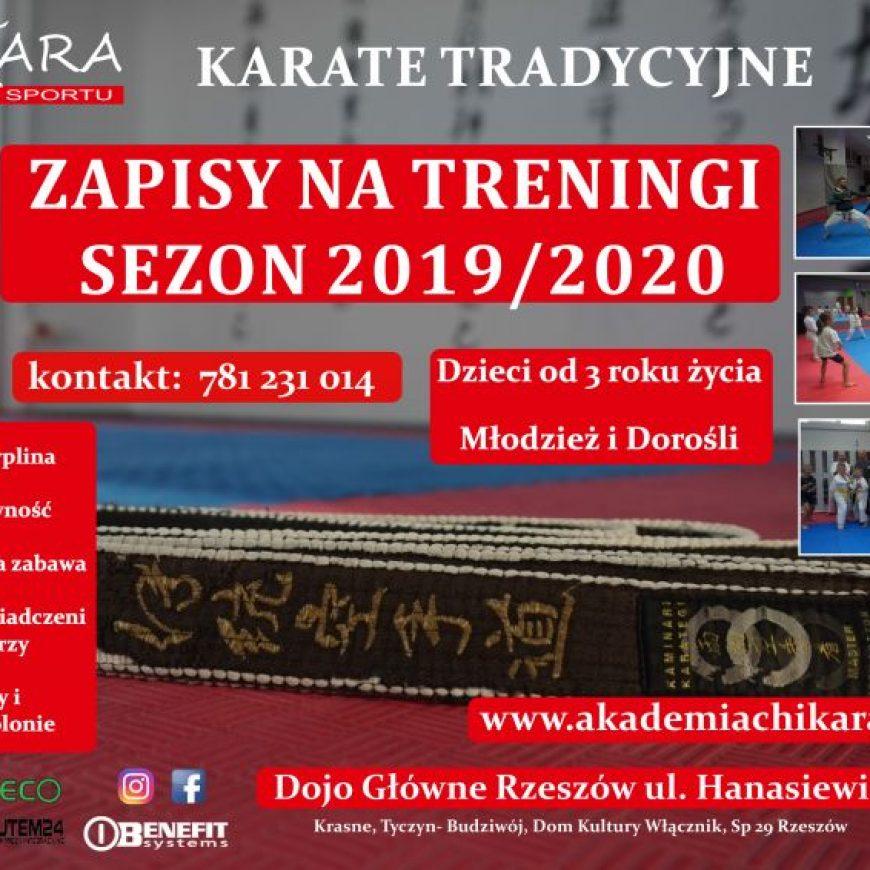 ZAPISY: ZAJĘCIA KARATE NA SEZON 2019/2020